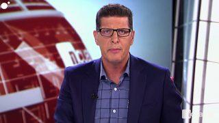 El periodista David Tejera en Noticias Cuatro / Cuatro