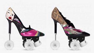 Patines-stilettos de Saint Laurent. / YSL