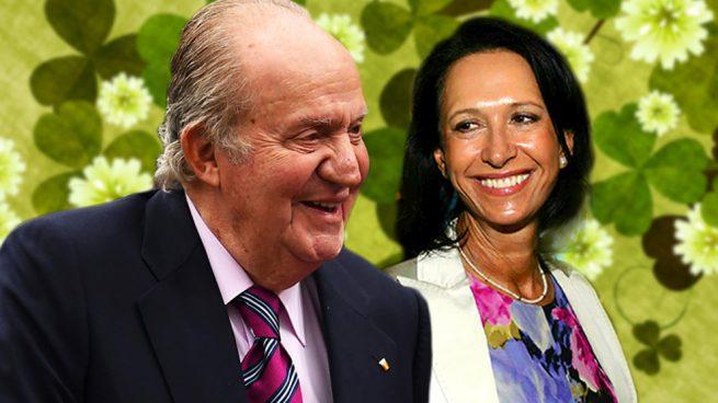 El rey Juan Carlos y Marta Gayá