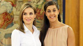 Doña Letizia le pidió clases particulares a Carolina Marín para sus hijas / Gtres