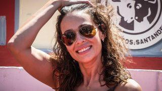 La presentadora, muy sonriente en Santander el pasado 29 de julio / Gtres