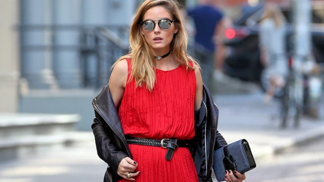 Olivia Palermo shooting Banana Republic