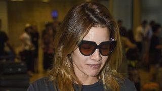 Virginia Troconis a su llegada al aeropuerto de Madrid / Gtres