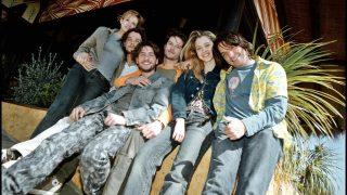 Algunos de los actores de 'Al salir de clase' en la presentación de su última temporada en 2001 / Gtres