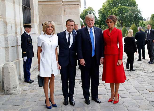 Los Macron reciben a los Trump / Gtres