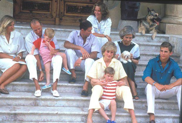 Reina Juan Carlos, Reina Sofía, Diana de Gales, Carlos de Inglaterra