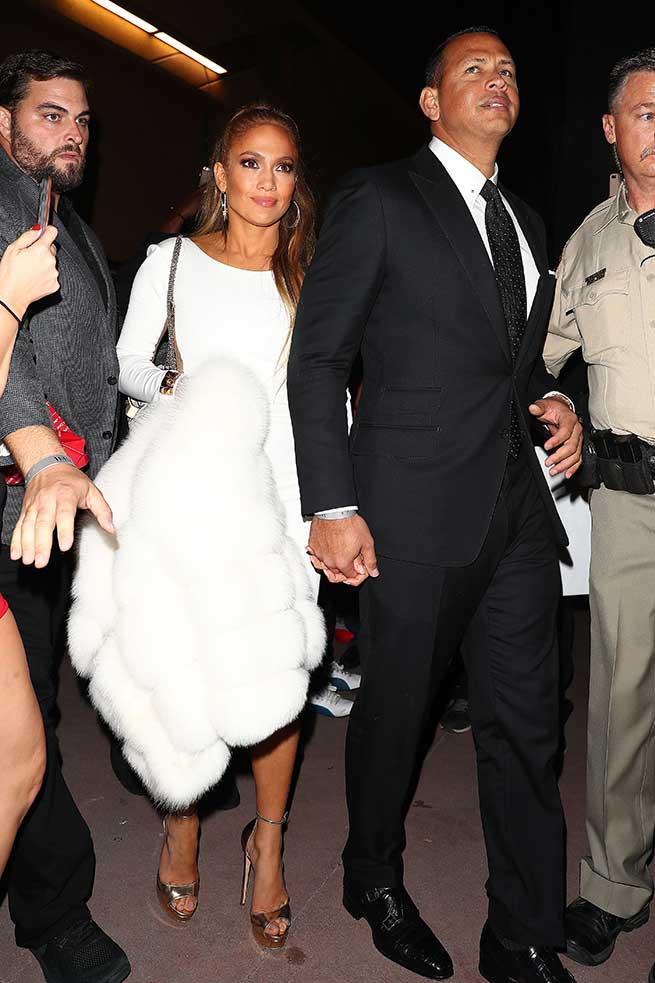 Jennifer Lopez y Alex Rodriguez en el combate / Gtres