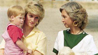 Diana de Gales y la reina Sofía en una imagen de archivo / Gtres