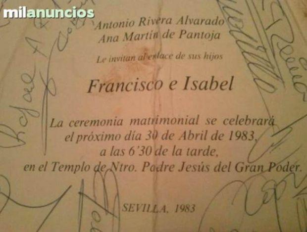 El vestigio del amor entre Isabel Pantoja y Paquirri, a la venta por 1.000 euros