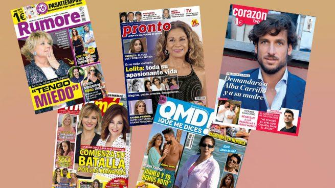Isabel Pantoja, Anabel Pantoja y Terelu Campos protagonistas de los kioscos del lunes