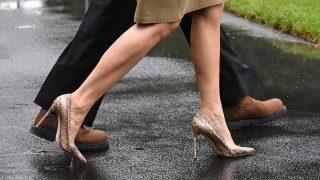 Los zapatos de Melania Trump. / Gtres