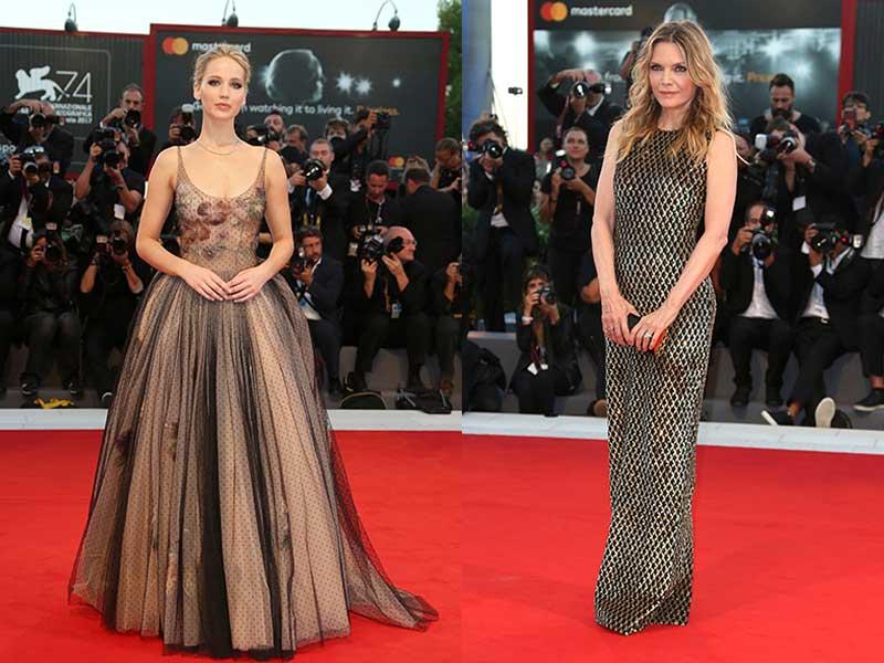 Asi lucieron por la noche Jennifer Lawrence y Michelle Pfeiffer / Gtres