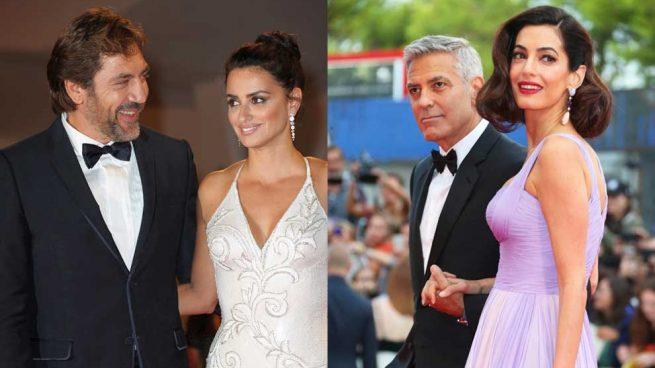 Penélope Cruz y Javier Bardem retan en estilo a los Clooney en Venecia