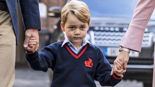 El príncipe George llegando al colegio / Gtres