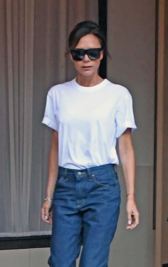 Victoria Beckham Camiseta Blanca