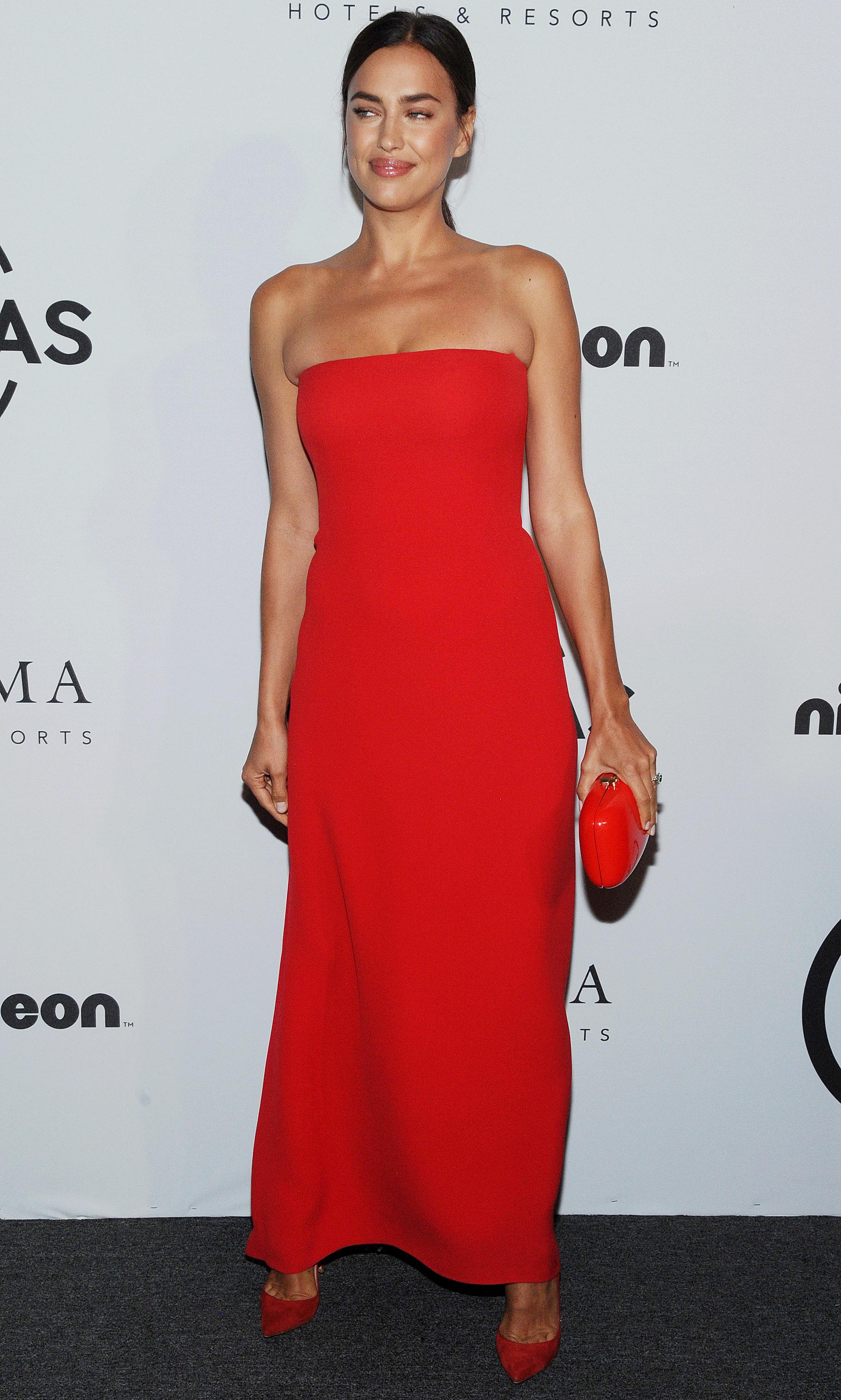 Irina Shayk Vestido Rojo Natasha Poly