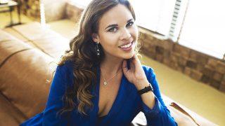 La modelo Raquel Arias durante su sesión fotográfica para LOOK