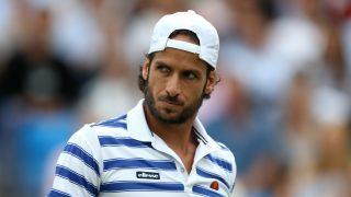 Feliciano López en la pista de tenis / Gtres