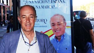 José Manuel Soto (Gtres) y fondo de la marquesina (Twitter)