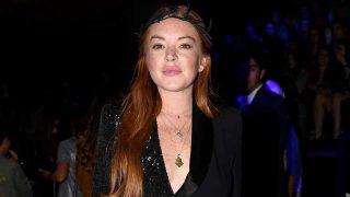 Lindsay Lohan en la MBFWM. / Gtres