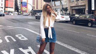 Celia Fuentes posa en las calles de Madrid /Instagram