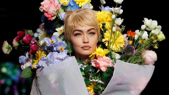 Moschino Gigi Hadid Milan Fashion Week