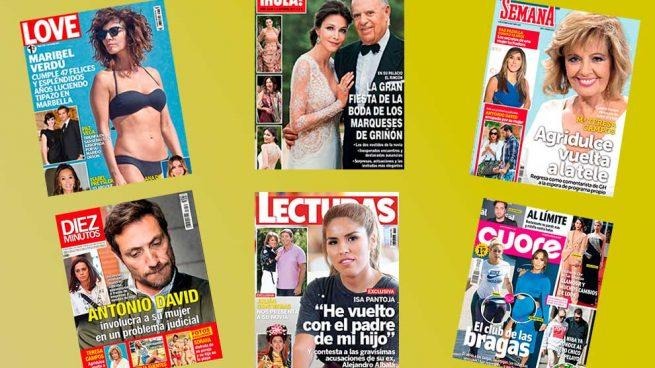 Revistas corazón del míercoles 27 de septiembre