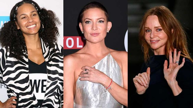 Alicia Keys, Kate Hudson y Stella McCartney