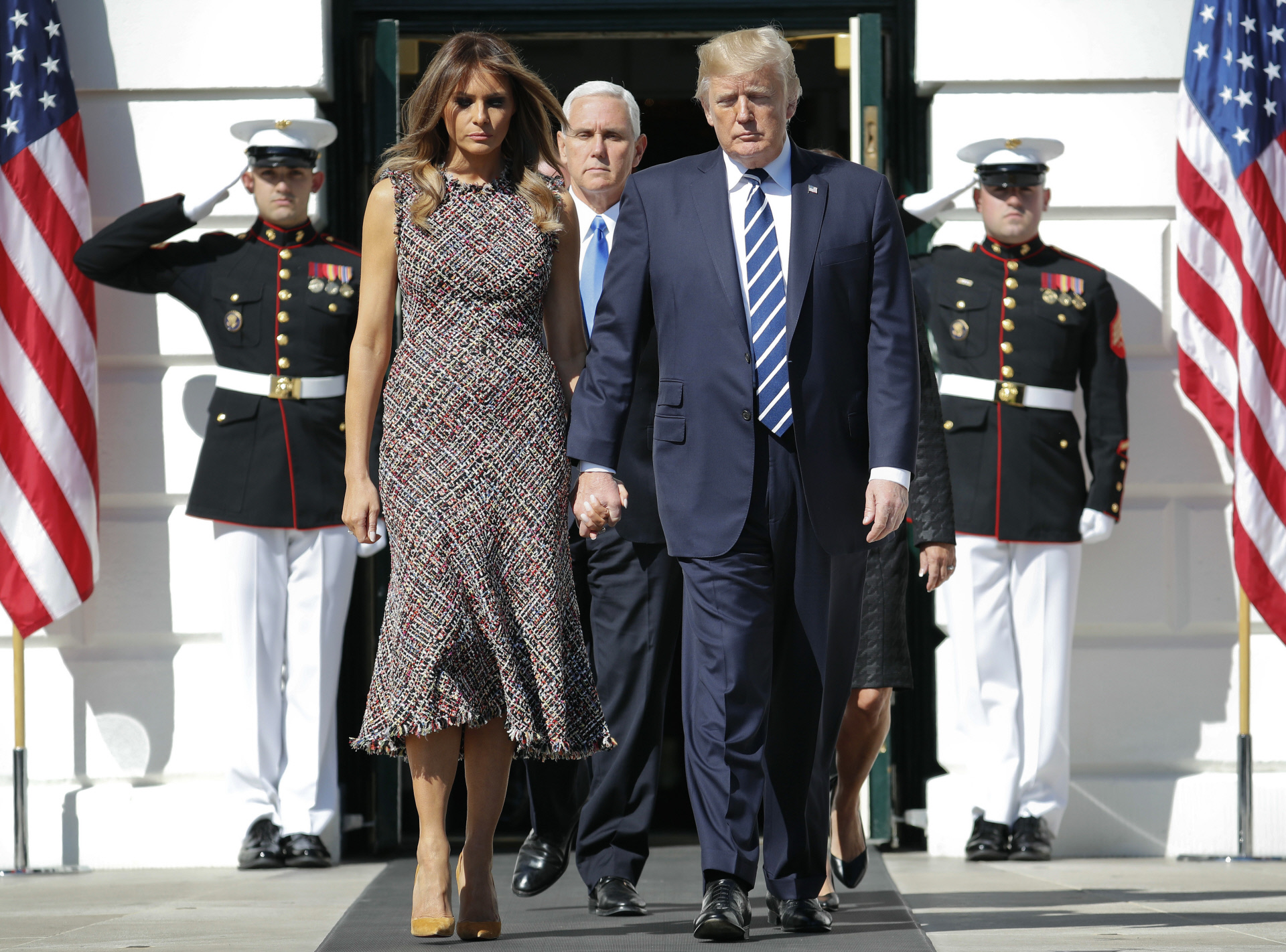Melania Trump Vestido Tweed