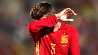 Gerard Piqué, en un partido reciente con la selección española / Gtres