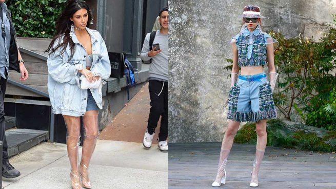 Botas Transparentes Kim Kardashian Chanel
