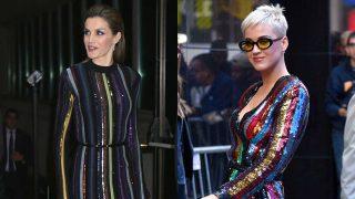 La reina Letizia y la cantante Katy Perry. / Gtres