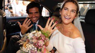 Sibi Montes y Álvaro Sanchís tras contraer matrimonio /Gtres
