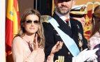 La entonces Princesa de Asturias durante el desfile militar del 12 de octubre de 2011 / Gtres