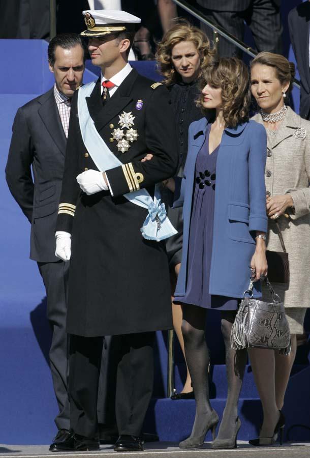 Los Príncipes de Asturias en el 12 de octubre de 2007 /Gtres