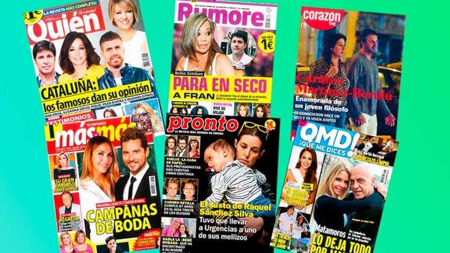 Revistas del corazón lunes 9 de octubre