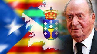 El rey Juan Carlos en un fotomontaje de LOOK