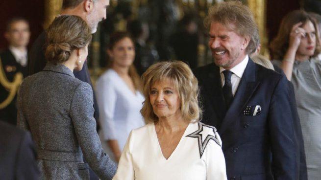 María Teresa Campos y Bigote Arrocet, invitados a la recepción del Palacio Real
