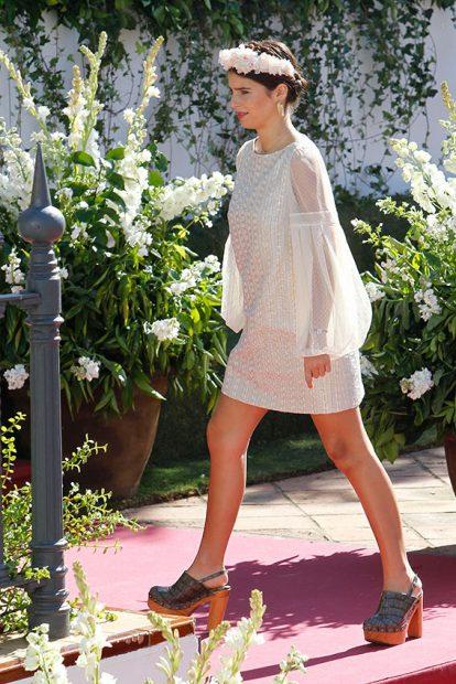 Cayetana eligió un vestido romántico para la boda de su tío Cayetano con Eva González / Gtres