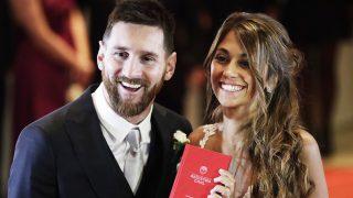 Leo Messi y Antonella Roccuzzo el día de su boda /Gtres