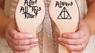 Las pegatinas de Harry Potter con las que las novias se dan el 'sí, quiero' / Etsy