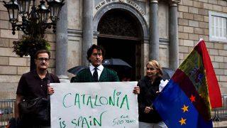 Álvaro de Marichalar ha defendido la unidad española a pie de calle y desde Cataluña / EFE