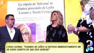 Lydia Lozano y Terelu Campos reciben la noticia como un jarro de agua fría / Telecinco