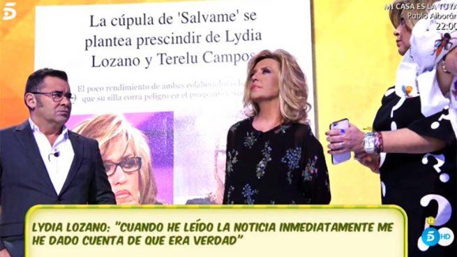 Tarde de tensión en 'Sálvame' para Terelu Campos y Lydia Lozano: ¿Realidad o ficción?