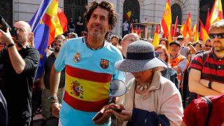 Álvaro de Marichalar el pasado 8 de octubre durante una manifestación en Barcelona / Gtres
