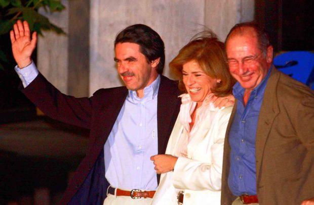 Ana Botella, José María Aznar y Rodrigo Rato