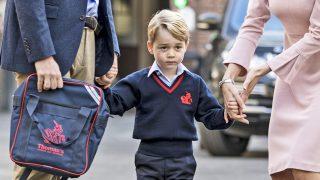 El príncipe Jorge en su primer día de colegio / Gtres