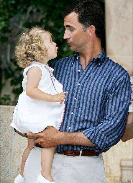 Don Felipe con su hija Leonor
