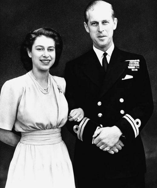 La reina Isabel y Felipe de Edimburgo