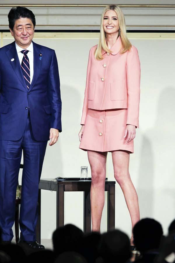 Ivanka Trump looks Japón